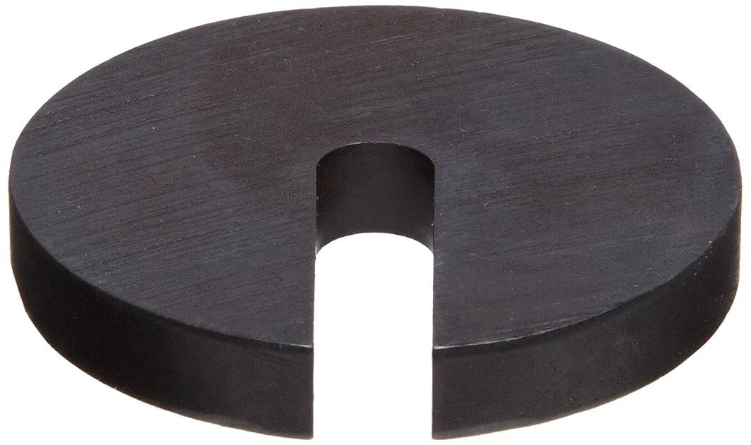 Steel Slotted Washer, Black Oxide Finish, M4 Hole Size, 0.531