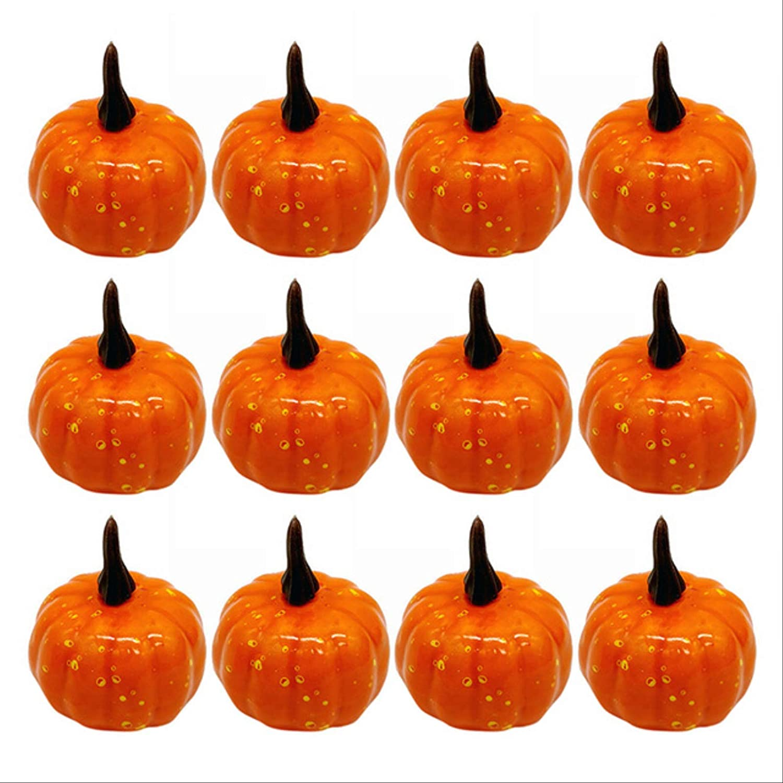 NEW before selling ☆ NC56 1 12pcs Mini Fake Halloween Simulation Seasonal Wrap Introduction Ar Vegetable Pumpkin