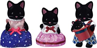 Calico Critters Midnight Cat Family, Dolls, Dollhouse Figures, Collectible Toys with 4 Figures Included