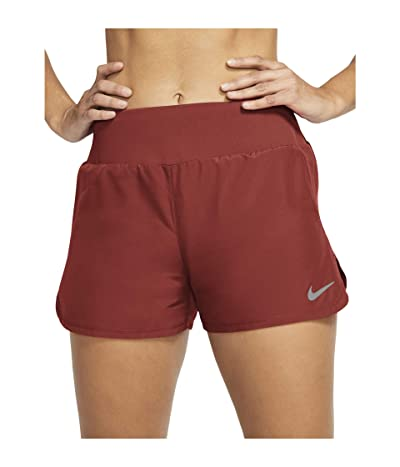 Nike Crew Shorts (Firewood Orange/Reflective Silver) Women