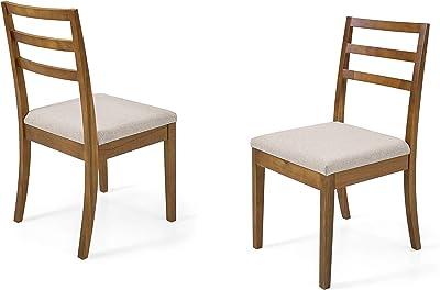 Dining Chair Herval Furniture, Ladder-Back, Solid Wood, Set of 2