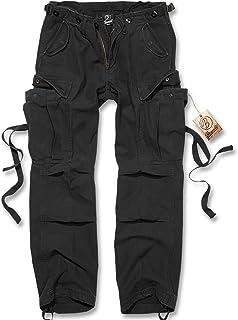 Brandit Pantalon Femme M65 Femme Pantalon Cargo Noir, Coupe Straight