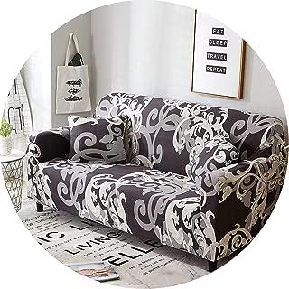 Plaid Sofa Cover Elastic Sofa Covers Stretch Sofa Seat Cover Slipcovers,Color 6,Cushion Cover 2 Pcs