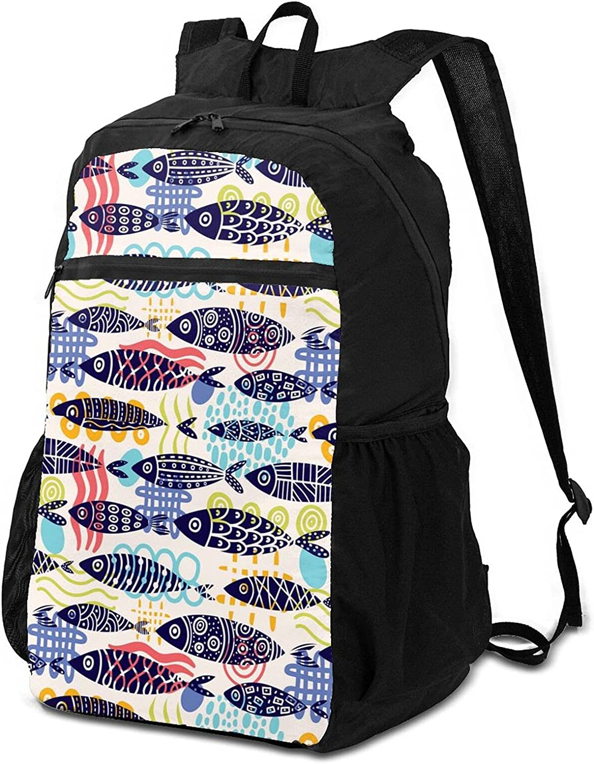 Cute Fish Lightweight Packable Backpack Ranking TOP20 for Women Outdoor Beauty products Tr Men