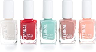 Eternal 5 Collection – 5 Pieces Set: Long Lasting, Quick Dry, Bright, Nude or Sheer Nail Polish – 0.46 Fluid Ounces (Flower Queen)