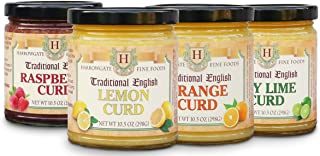Harrowgate Traditional English Curds - 4 pack variety - Lemon, Orange, Raspberry, Key Lime