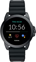 Fossil Men's Gen 5E 44mm Stainless Steel Touchscreen Smartwatch with Speaker, Heart Rate, Contactless Payments and Smartph...
