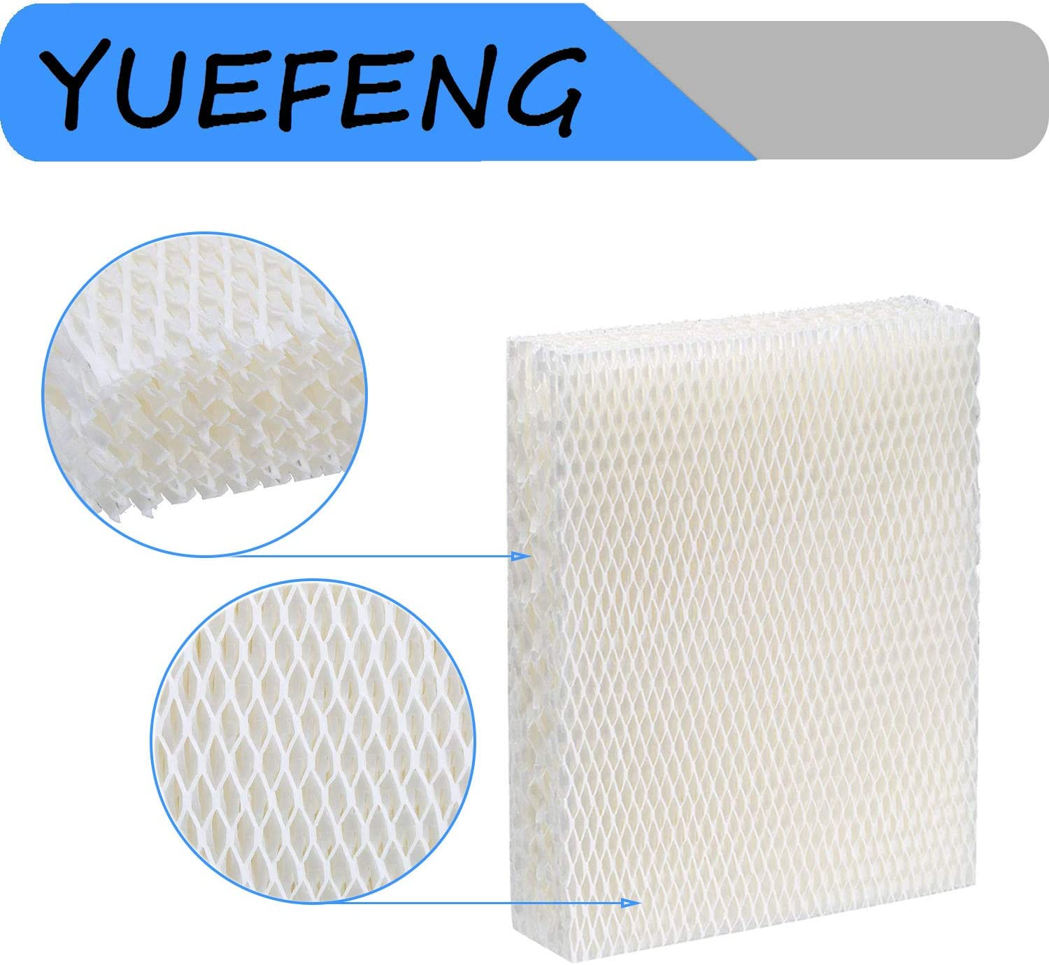 YUEFENG 4 Pack Humidifier Replacement Filter T for Honeywell Top Fill Humidifier HEV615 and HEV620 Humidifier Wicks Compatible with Part # HFT600 HFT600PDQ HFT600T