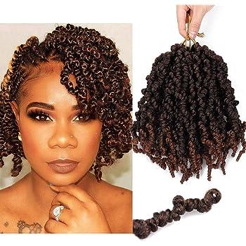 Amazon Com 3 Packs Short Curly Spring Pre Twisted Braids Synthetic Crochet Hair Extensions 10 Inch 15 Strands Pack Ombre Crochet Twist Braids Fiber Fluffy Curly Twist Braiding Hair Bulk T1b 30 Beauty