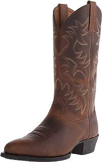 Stivali da Uomo Tacco Alto Autunno Inverno Modello Ricamato Scarpe al Polpaccio Scarpe Casual da Esterno Stivali da Cowboy...