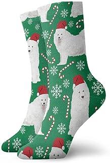 Elsaone, Niños Niñas Locos Divertidos Samoyeds Perro Navidad Calcetines para perros Calcetines lindos de vestir de novedad