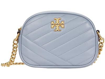 Tory Burch Kira Chevron Small Camera Bag (Cloud Blue/Rolled Brass) Handbags