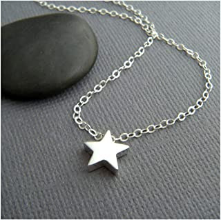 DeScount Dainty Geometric Necklace,Tiny Triangle,Circle,Square,Bar,Star Layering Pendant Necklaces for Women