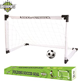 Kidmoro United Sports Foldable Soccer Goal Game Set, 35 Inch