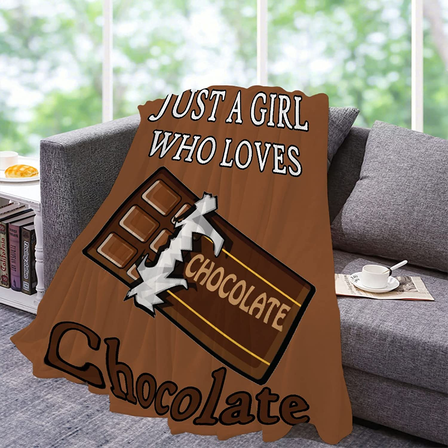 Lynnezilla Just A Girl Who Loves Fleece Max 25% OFF 89% OFF Chocolate Ultra Flannel