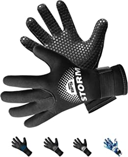 BPS 3mm & 5mm Double-Lined Neoprene Wetsuit Gloves - for Diving,  Snorkeling,  Kayaking,  Surfing and Other Water Sports - Choose from 6 Sizes
