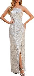 Ever-Pretty Women's Gliter Side Slit Sleeveless Sequin Evening Formal Party Dress 0116