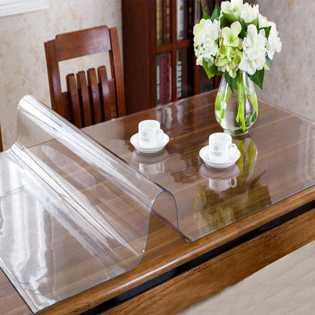 Soft PVC Table Surface Protector Cover Waterproof Tablecloth Mat SL