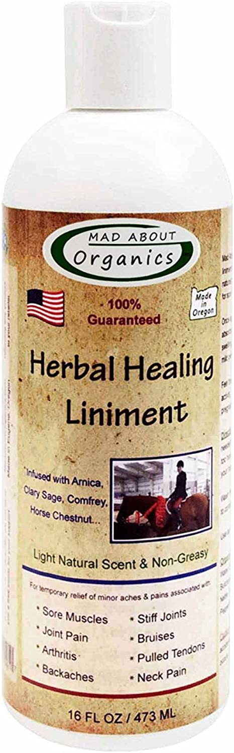 Mad About Organics All Natural PainRelieving Herbal Healing Liniment for All Pets 16oz