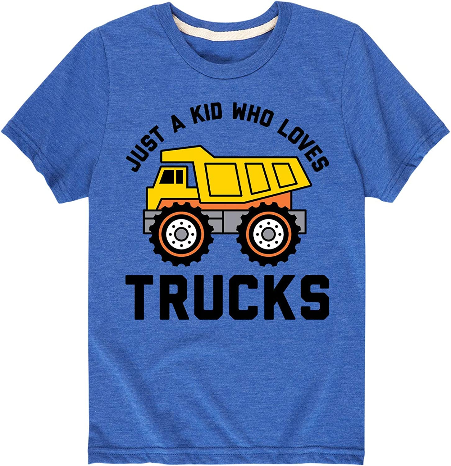 Just A Kid Who Loves Trucks - Toddler and Youth Short Sleeve T-Shirt