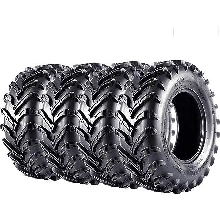 VANACC ATV Tires 25x8x12 25x10x12 Set of 4 Off-Road 6 Ply 25-8-12 25-10-12 ATV Tires Replacement