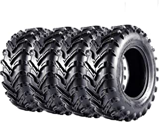 VANACC ATV Tires 25×8-12 Front & 25×10-12 Rear UTV Tire 25x8x12 25x10x12,..