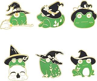 ROFARSO Cute Frog Wizard Frog Magic HatEnamel Pins Cartoon Animal Brooch Pin Set Lapel Pins Accessory for Backpacks Badges...