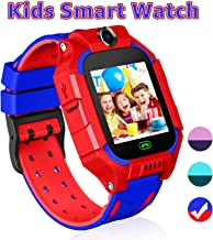 YENISEY Kid Smart Watches with Games,Waterproof Children Smartwatch Phone SOS Anti-Lost Voice Chat Camera Alarm Clock Quick Dial Flashlight for 3-4 Year Boys Girls Birthday Toys (Red) …