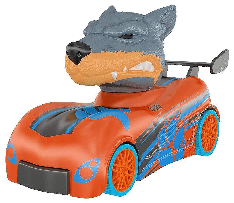 宿命付添人ソロKnuckle Headz Head Poppin' クイックショット プルバック クラッシュダービーレーサー – Snarl The Wolf