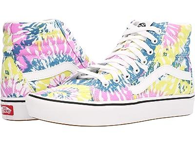 Vans ComfyCush SK8-Hi ((Tie-Dye) Orchid/True White) Athletic Shoes