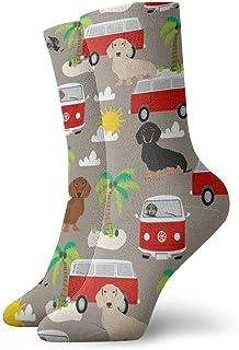 shenguang, Niños Niñas Crazy Funny Dox Beach Bus 3 Calcetines de vestir novedosos lindos