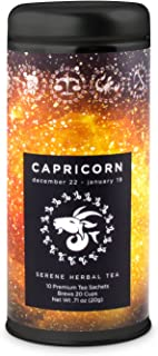 Capricorn Astrology Tea- Serene Herbal: All-Natural, Caffeine Free, Chamomile, Improve Sleep, Digestive Health, Gluten Free, 24 servings …