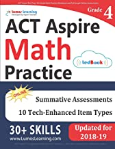 ACT Aspire Test Prep: 4th Grade Math Practice Workbook and Full-length Online Assessments: ACT Aspire Study Guide