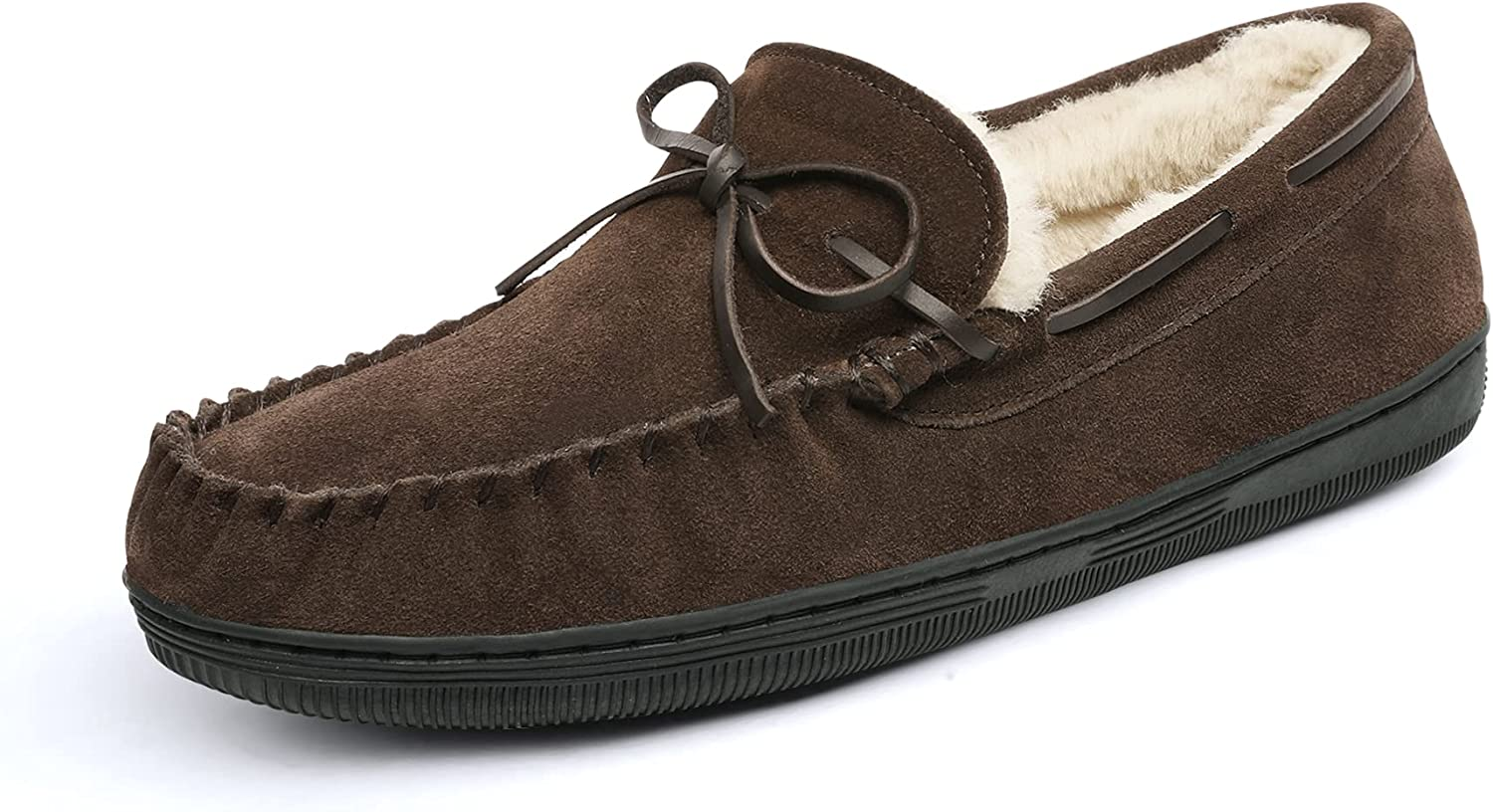DREAM PAIRS Men's Fur-Loafer-01 Slippers Shoes Luxury goods San Antonio Mall Suede Loafers