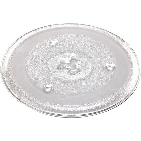 AllRight Plaque Tournante pour Micro-Ondes 27 CM Plaque Micro-Ondes Plaque De Verre Plaque Tournante Remplacement Plateau Tournant en Verre pour Micro-Ondes