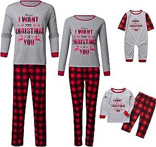 K-Youth Ropa para Padres e Hijos Pijamas Familiares Navideñas Conjuntos Bebe Niño Navidad Pijamas de Navidad Familia Ropa ...
