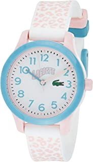 Lacoste Unisex-Child White Dial White & Pink Silicone Watch - 2030026