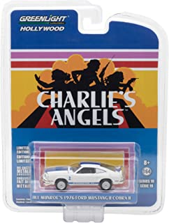 New 1:64 Greenlight Hollywood Series 19 Collection - Jill Munroe's Ford Mustang II Cobra II White Charlie's Angels (1976-1981 TV Series) Diecast Model Car By Greenlight