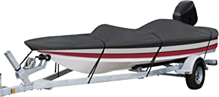 StormPro Heavy-Duty Boat Cover with Support Pole For Bass Boats - 88928, For Boats 14'-16' L, Up to 90
