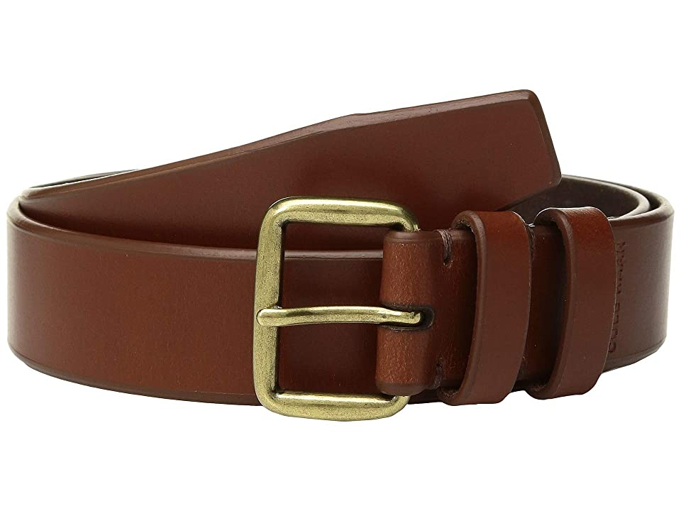 Cole Haan 35 mm Leather Belt with Waxed Burnished Finish (Woodbury) Men