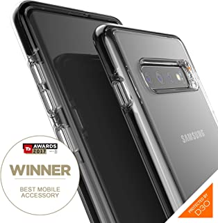 Gear4 Piccadilly Clear Case with Advanced Impact Protection by D3O Compatible with Samsung Galaxy S10 Plus - Black