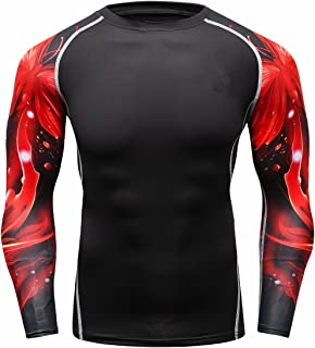 Fanii Quare Men's Soft Slim Long Sleeve Dry-Fit Compression Gym Trainning Shirt