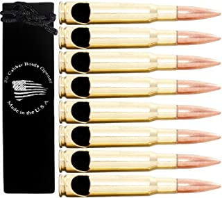 50 Caliber BMG Real Bullet Bottle Opener - Set of 8 - Made in the USA