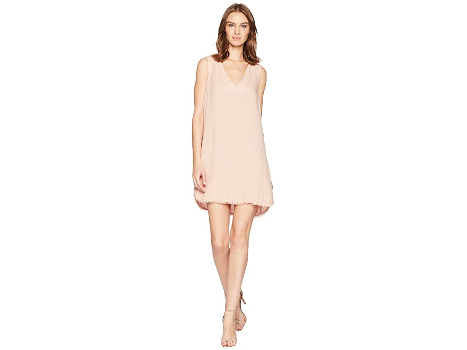 Splendid Crosshatch V-Neck Tunic Dress (Pink Beige) Women