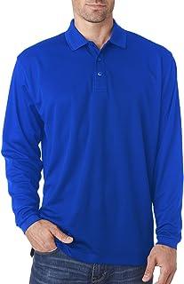 UltraClub Men's UV protection Moisture Wicking Piqué Polo Shirt