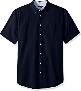 Tommy Hilfiger Mens Big and Tall Button Down Short Sleeve Shirt Maxwell