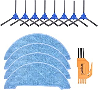 KEEPOW Replacement for Coredy R500, R550(R500+) Side Brush, Wet-Dry Vacuum Mop Clothes Accessory Kit for Coredy R500, R55...