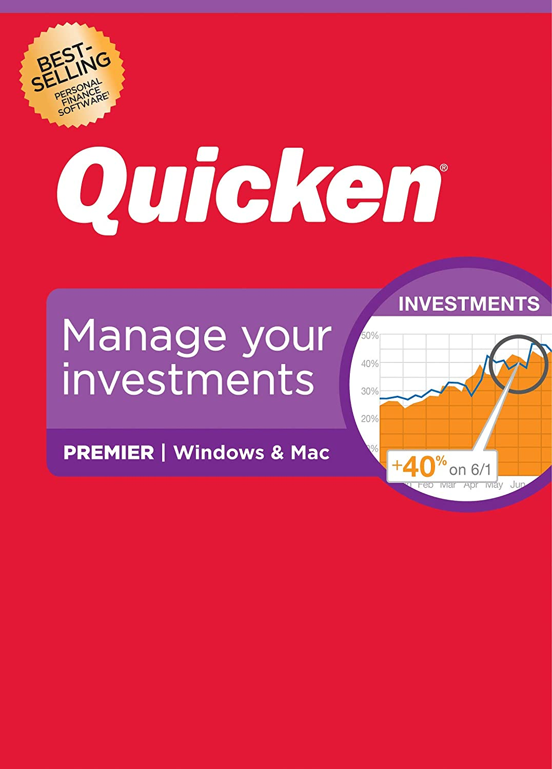 Amazon.com: Quicken Premier Personal Finance – Maximize your investments – 1-Year Subscription (Windows/Mac)