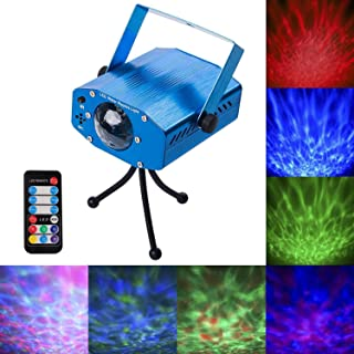 Disco Party Lights, 7 Colors Led Stage Party Laser Light Projector, Strobe Water Ripples Lighting for Parties Room Show Bi...