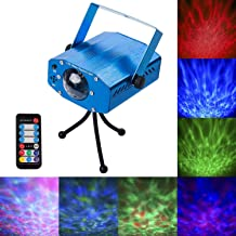 Disco Party Lights, 7 Colors Led Stage Party Laser Light Projector, Strobe Water Ripples Lighting for Parties Room Show Birthday Party Wedding Dance Lighting with Remote Control(Blue)